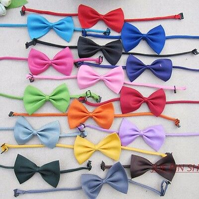 Adjustable Pet Bow Tie Various Colours - Cat, Dog, Rabbit & Puppy Clothes Collar 10