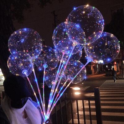 LED Light  Transparent Balloon Wedding Birthday Xmas Party Lights Decoration 9