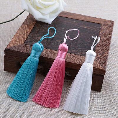Hot 8cm 26 Colors Ice Silk Fat Tassel Trim Jewelry Making DIY Key Chian Pendant 9