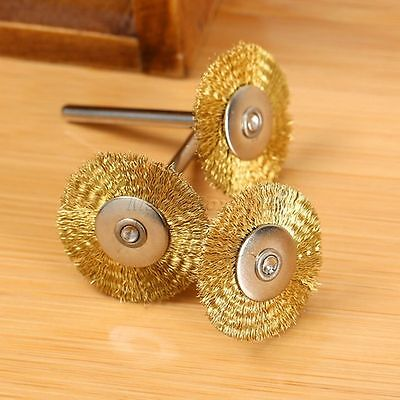5PC 25mm Brass Wire Wheel Brush for Die Power Grinder Rotary Tools Power Drill 7