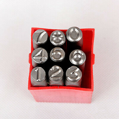 Reversed 9PC Steel Number Stamps Punch Dies Set Select Size 4