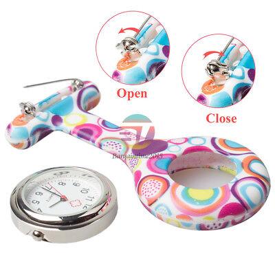 Silicone Nurse Watch Brooch Tunic Fob Nursing Nurses Pendant Clip Pocket Quartz 10