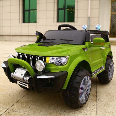 Auto Elettrica Per Bambini Macchina Jeep 2 Posti 4Wd 12V Con Telecomando Usb Mp3 4