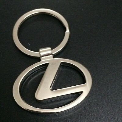 Car Logos 3D chromed Titanium Key Chain Car Keychain Ring Keyfob Metal Keyrings 3