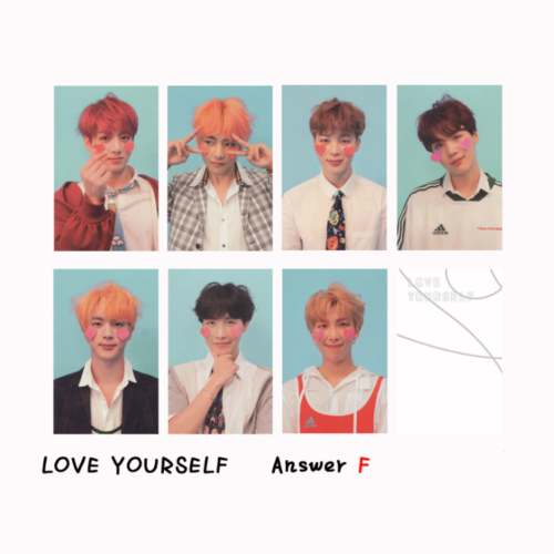 KPOP Album 2019 5th Muster Love Yourself World Tour WORLD OST PhotoCard 4