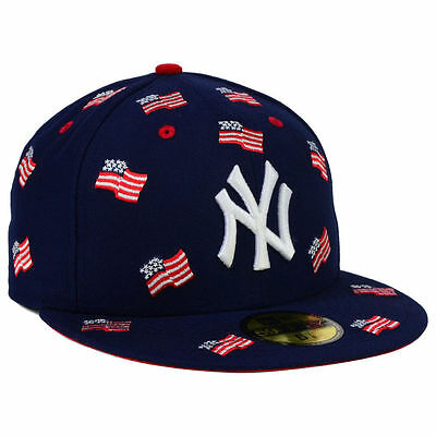 6c36dd25e496c NEW YORK YANKEES MLB July 4th Independence Day America USA Flags 5950 Hat  Cap NY