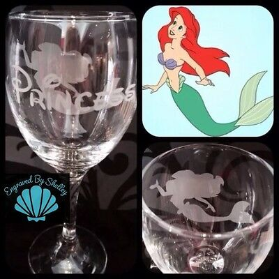 Personalised Disney Tinkerbell Wine Glass Gift Handmade /& Free Name Engraving