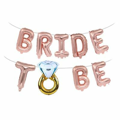 """Shiny 16/"""" Foil Balloons /'BRIDE TO BE/' ROSE Gold Letter Wedding Bridal Hen Party"""