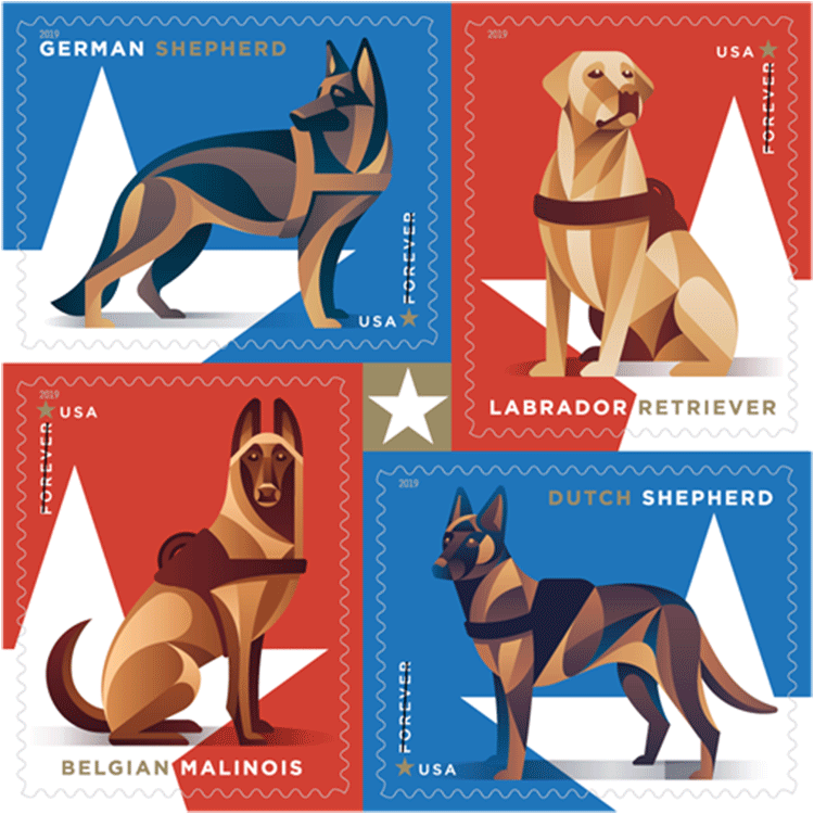 *NEW* 2019 Military Working Dogs (Booklet Block of 4) 2019 MNH - *In Stock* 2