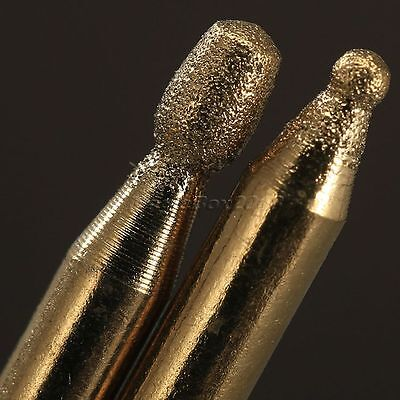30pc 3mm Titanium Coated Diamond Burrs Points Set For Grinder Power Rotary Tool 8