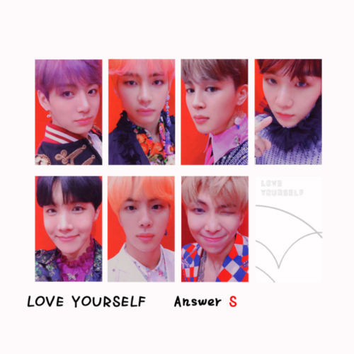 KPOP Bangtan Boys Album MAP OF THE SOUL PERSONA Boy with Luv Photo Card 8