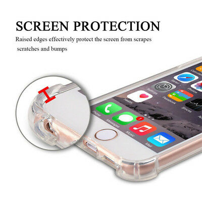 For iPhone 6S 7 8 Plus X XS XR 11- Clear Case Soft TPU Bumper Cover ShockProof 3