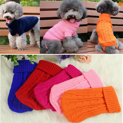 Popular Pet Cat Dog Knitted Jumper Sweater Winter Puppy Warm Coat Jacket Clothes 8