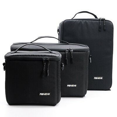 Large Camera Bag Insert Carry Case Partition For DSLR SLR Canon Nikon Sony Lens