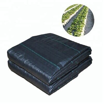 1m/2m Wide 100gsm Woven PP Weed Control Fabric Membrane Garden Mulch Landscape 9