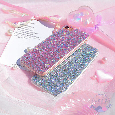 Bling Glitter Sparkle Protective Phone Case Cover For iPhone XS XR MAX 8 7 Plus