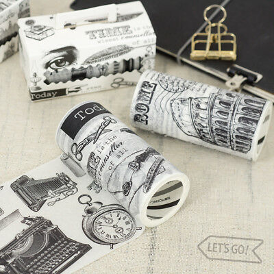 Vintage Washi Masking Tape Adhesive Paper Craft Scrapbook DIY Diary Decoration