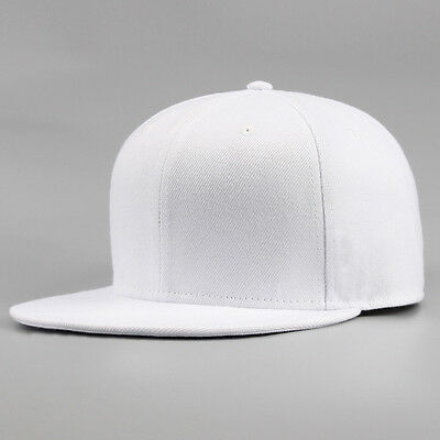 Snapback Baseball Cap Plain Hip Hop Retro Classic Vintage Funky Golf Flat Hat 5