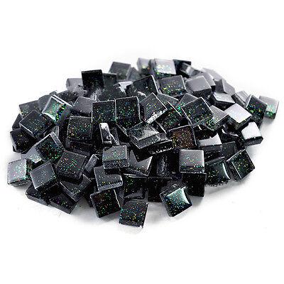 100g 10mm Square Gliter Vitreous Glass Mosaic Tiles Kitchen Art & Craft Supplies