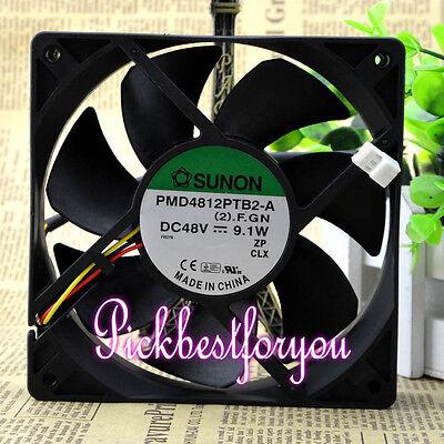 Sunon PMD4812PTB2-A.(2).GN DC 48V 9.1W 120x120x25mm 3Pin Cooling Fan #MF80 QL 2