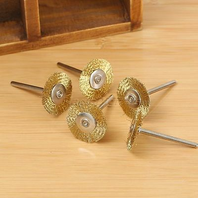 20x3mm Brass Wire Wheel Brush for Rotary Power Tool Drill Rust Weld Die Grinder 4
