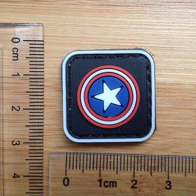 51120 Mini Captain America Shield Avengers Superhero Marvel Comics Iron On Patch