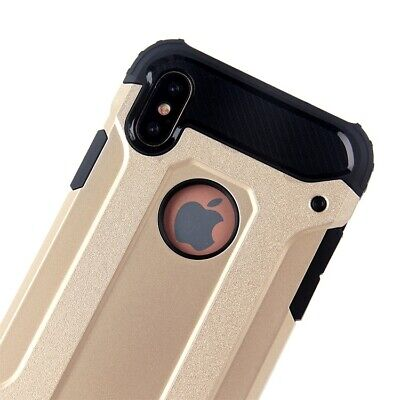 Hybrid Shockproof Heavy Duty Rubber Cover Case Fits In iPhone XR/ XS MAX/ XS/ X 4