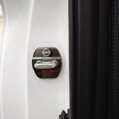 4x Edelstahl Türschloss Abdeckung Schnalle für Nissan x-trail T32 Qashqai J11 3