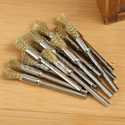15pcs 5mm Brass Wire Brushes Wheel For Grinder Drill Rust Weld Power Rotary Tool 8