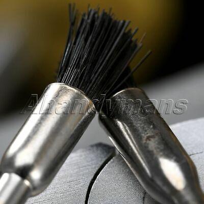5Pcs Nylon Bristle Burr Pen Brushes Polishing Buffing Shank Grinder Power Tool 6