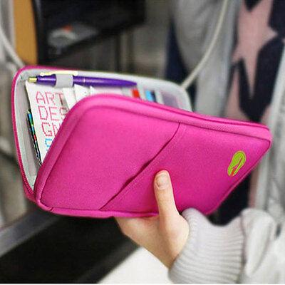 NEW Travel Bag Wallet Purse Document Organiser Zipped Passport Tickets ID Holder