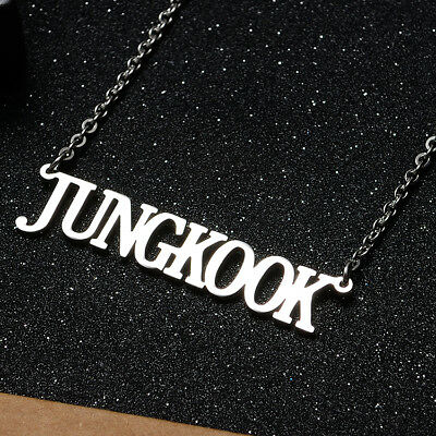 KPOP Bangtan Boys EXO GOT7 TWICE BLACKPINK NCT Steel Pendant Necklace 8