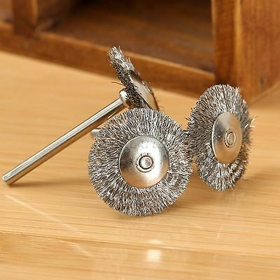20Pcs 25mm Stainless Steel Wire Wheel Brush Cup For Dremel Grinder Rotary Tools 5