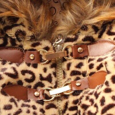 Toddler Kids Baby Girls Warm outerwear leopard print coat Newborn Winter Clothes 4