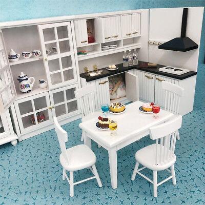 1/12 Dolls House Miniature Bedroom Kitchen Living Room Furniture Set Bed Cabinet 6