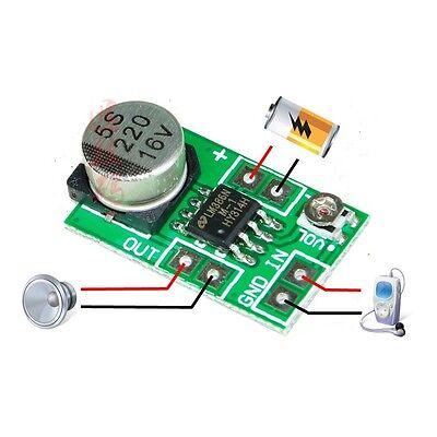 Mini LM386 Audio Power Amplifier Board DC 3~12V 5V Micro Amp Module 750mW