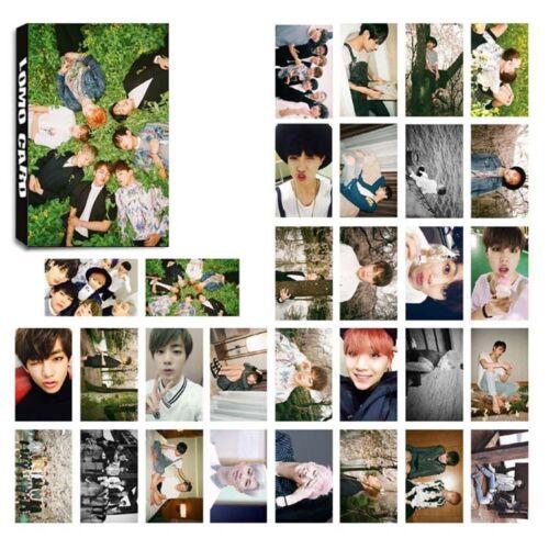 30pcs Set Lomo Tarjetas BTS Bangtan Personal Foto Fotos Cartel Cuidado Chicos 4