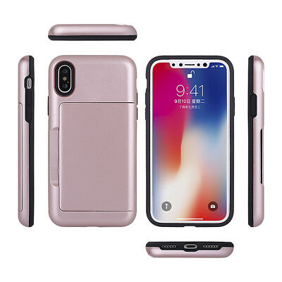 Fits Apple iPhone Case Protective Wallet ID Credit Card Holder Shockproof Cover 12