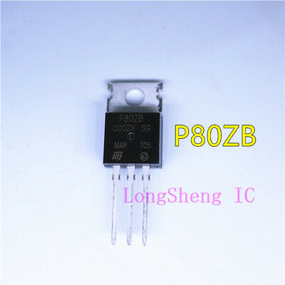 5PCS STP80NS04ZB P80ZB N-CHANNEL CLAMPED MESH OVERLAY MOSFET TO220
