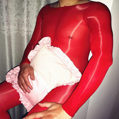 Herren Nylon Glanzstrumpfhose Overall Bodystocking Catsuit Penishülle Bodysuit 3