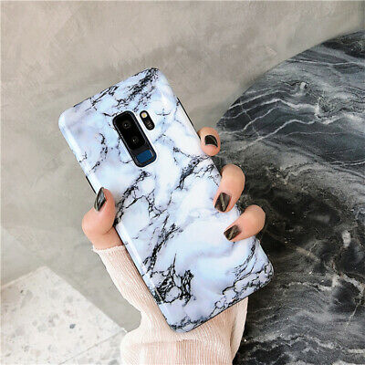 For Samsung Galaxy S8 9 Plus Note Slim Fit Marble Case Protective Phone Covers 5