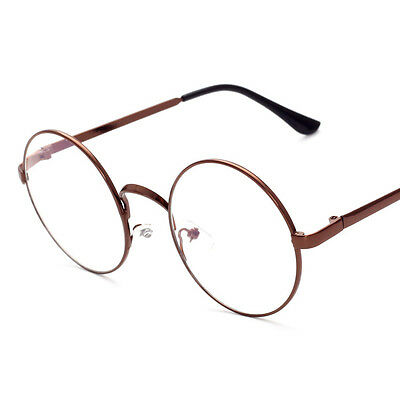 52deae8bf7 1 of 6FREE Shipping New Eyeglasses Retro Big Round Metal Frame Clear Lens  Glasses Nerd Spectacles