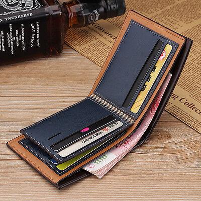 Men's Bifold Leather Credit ID Card Holder Wallet Billfold Purse Clutch Billfold 3