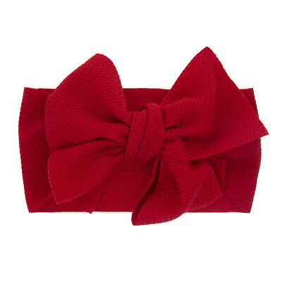 Newborn Baby Girl Big Bow Beanie Hat Cap Boy Cotton Headband Kids Hair Accessory 8