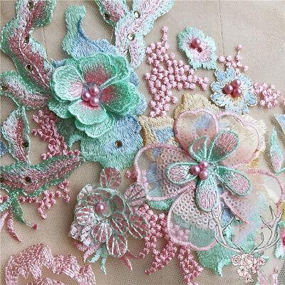 Broderie Fleur Dentelle De Mariée Applique Perle Robe De Mariée En Tulle 4