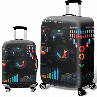 """Elastic Luggage Cover Dustproof 18""""-32"""" Thicker Suitcases Trolley Protector Case 10"""