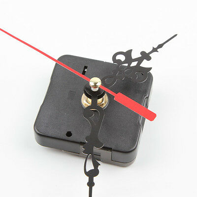 Chic New Black Quartz Clock Movement Mechanism Repair DIY Tool Kit + Red Hand