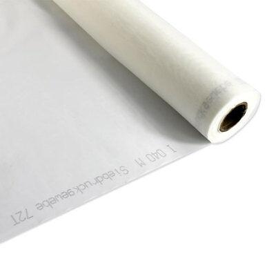 """3m 110 Netz X 63 """" Breite Einfarbig Weiß Seide Display Siebdruck Druck Stoff 2"""