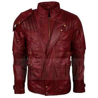 Star-Lord / Chris Pratt Guardians of the Galaxy Vol. 2 Style Red Leather Jacket