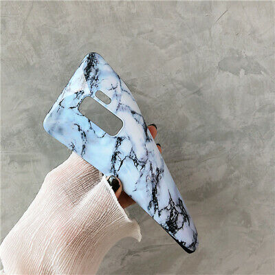 For Samsung Galaxy S8 9 Plus Note Slim Fit Marble Case Protective Phone Covers 6